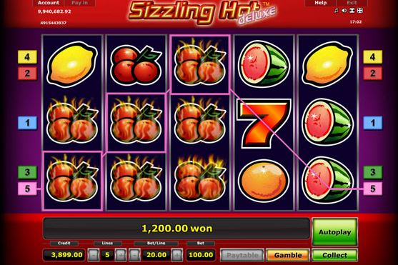 sizzling hot gamble trick